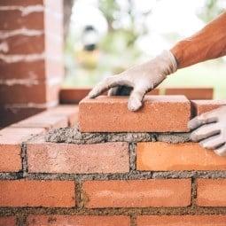 Repair dislodged bricks from e..